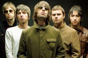 Miembros de la banda de rock Oasis