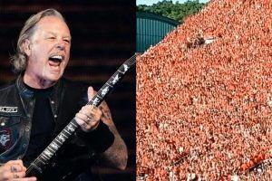 "James Hetfield reacciona a multitud que enloqueció con ""Enter Sandman"""