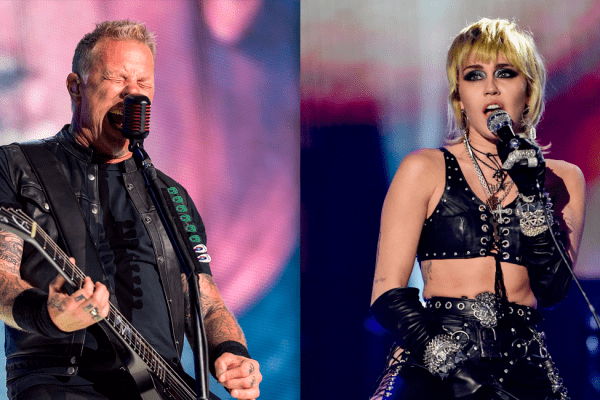 Metallica y Miley Cyrus cantan juntos