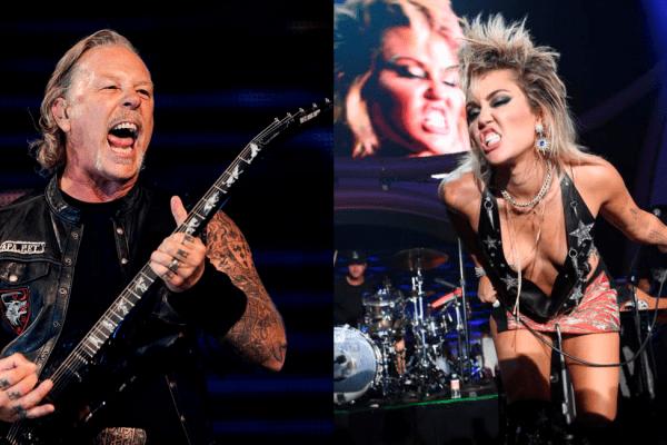 "Metallica y Miley Cyrus cantan""Nothing Else Matters"""