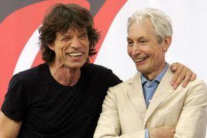 Mick Jagger y Charlie Watts