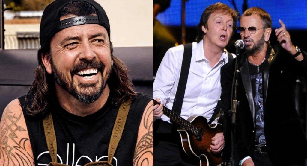 Dave Grohl recuerda el día que conoció por primera vez a Paul McCartney y Ringo Starr